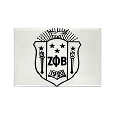 ZETA CREST - BLACK Rectangle Magnet (10 pack)