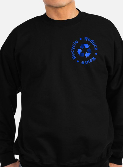 Blue Reduce Reuse Recycle Sweatshirt