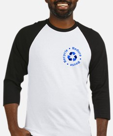 Blue Reduce Reuse Recycle Baseball Jersey