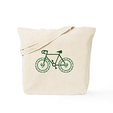 Green Bicycle Bike Cycling Tote Bag