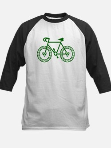 Green Bicycle Bike Cycling Kids Baseball Jersey