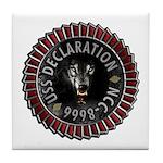 USS Declaration Tile Coaster