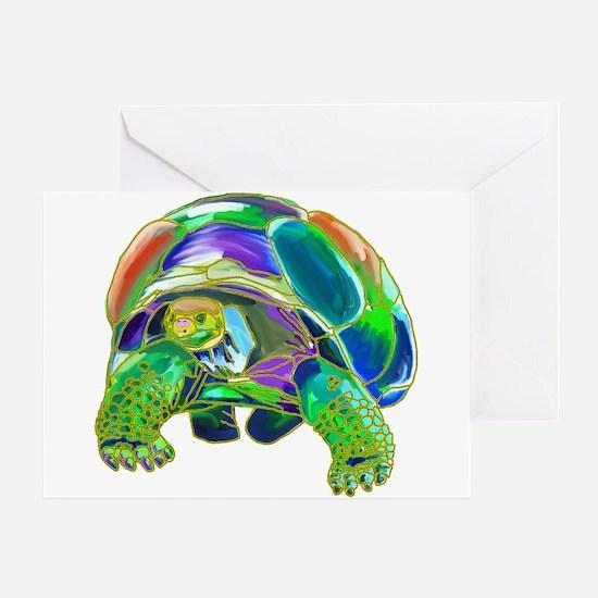 Rainbow Tortoise Greeting Card