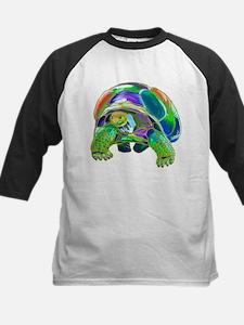 Rainbow Tortoise Kids Baseball Jersey