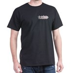 Black T-Shirt with pink girly logo on pocket