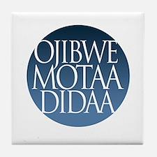 let's speak ojibwe Tile Coaster