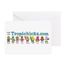 Tropichick Characters Lineup Greeting Card