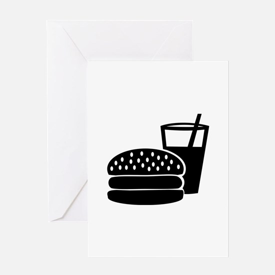 Fast food - Burger Greeting Card