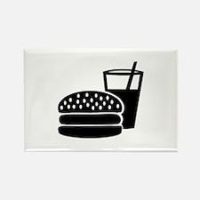 Fast food - Burger Rectangle Magnet (100 pack)