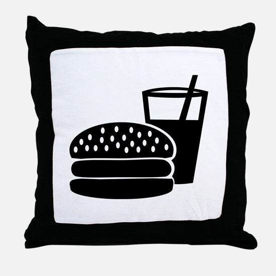 Fast food - Burger Throw Pillow
