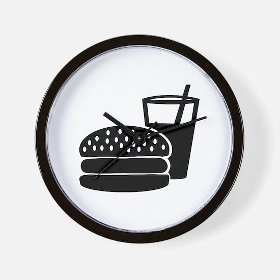 Fast food - Burger Wall Clock