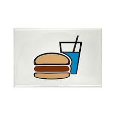 Fast food - Burger Rectangle Magnet (10 pack)