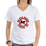 No Bull Saloon 1 Women's V-Neck T-Shirt