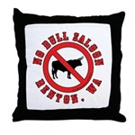 No Bull Saloon 1 Throw Pillow