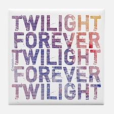 Twilight Forever Mauve Mist Tile Coaster