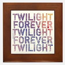 Twilight Forever Mauve Mist Framed Tile