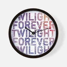 Twilight Forever Mauve Mist Wall Clock