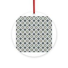 Orchid Kaleidoscope Pattern Ornament (Round)