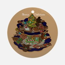 Decorated Christmas Cookies Ornament (Round)