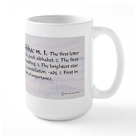 Alpha Large Mug