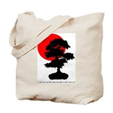 Rising Sun (with quote) Tote Bag