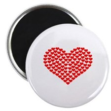 """Hearts 2.25"""" Magnet (10 pack)"""