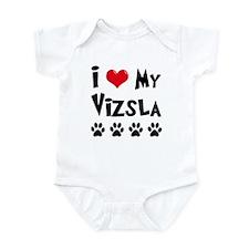 I Love My Vizsla Onesie
