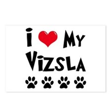 I Love My Vizsla Postcards (Package of 8)