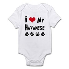 I Love My Havanese Infant Bodysuit