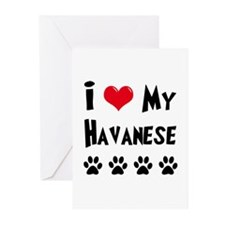I Love My Havanese Greeting Cards (Pk of 10)