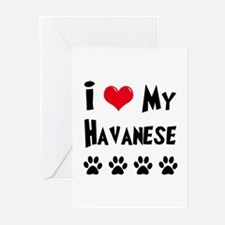 I Love My Havanese Greeting Cards (Pk of 10)