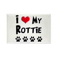 I Love My Rottie Rectangle Magnet