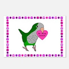 Quaker Parakeet Postcard Valentines (Package of 8)