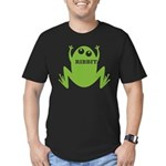 Frog: Ribbit Men's Fitted T-Shirt (dark)
