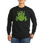 Frog: Ribbit Long Sleeve Dark T-Shirt
