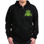 Frog: Ribbit Zip Hoodie (dark)
