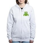 Frog: Ribbit Women's Zip Hoodie