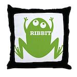 Frog: Ribbit Throw Pillow