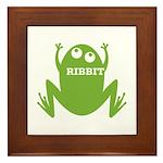 Frog: Ribbit Framed Tile