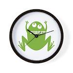Frog: Ribbit Wall Clock