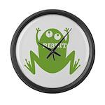 Frog: Ribbit Large Wall Clock