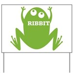 Frog: Ribbit Yard Sign