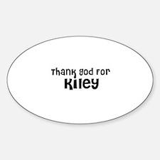 Thank God For Kiley Oval Decal