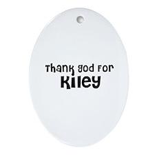 Thank God For Kiley Oval Ornament