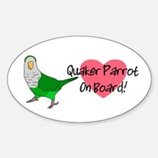 Quaker Parrot On Board Oval Decal