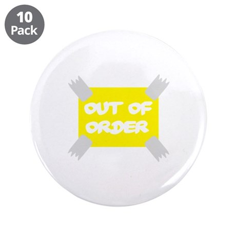 """Out of order 3.5"""" Button (10 pack)"""