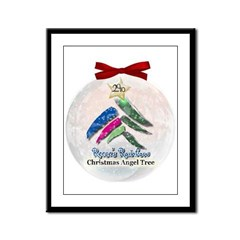 2010 Christmas Angel Tree Framed Panel Print