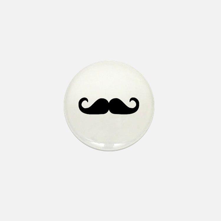 Beard - Mustache Mini Button