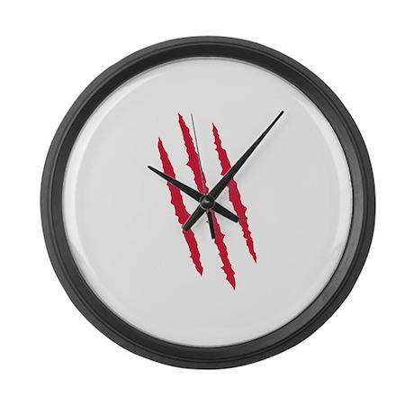 Scratch - blood Large Wall Clock