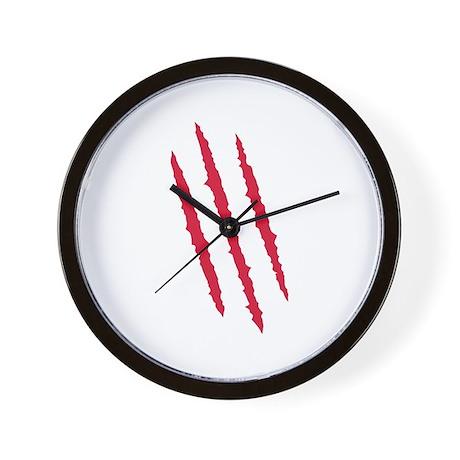 Scratch - blood Wall Clock